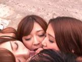 Haruki Satou along her friends are sharing in porn session picture 11