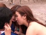 Haruki Satou along her friends are sharing in porn session picture 12
