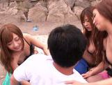 Haruki Satou along her friends are sharing in porn session picture 15