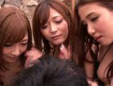 Haruki Satou along her friends are sharing in porn session picture 5