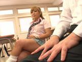 Sugary Japanese teen Megu Hazuki in a kinky group action picture 11