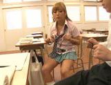 Sugary Japanese teen Megu Hazuki in a kinky group action picture 12