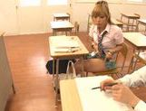 Sugary Japanese teen Megu Hazuki in a kinky group action