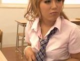 Sugary Japanese teen Megu Hazuki in a kinky group action picture 6