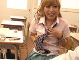 Sugary Japanese teen Megu Hazuki in a kinky group action picture 7