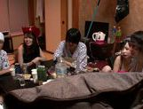 Wild orgy with gorgeous Asian babe Uta Kohaku
