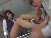Hot Japanese Av milf is submissive to her horny student