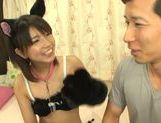 Petite Asian cosplay lover Koharu Aoi fucked doggie fashion picture 15