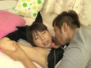 Petite Asian cosplay lover Koharu Aoi fucked doggie fashion
