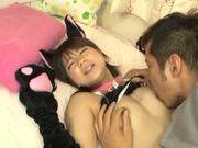Petite Asian cosplay lover Koharu Aoi fucked doggie fashion