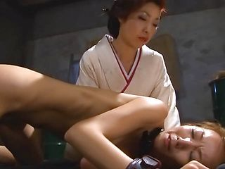 Alluring Asian redhead model gets excited of deep penetration
