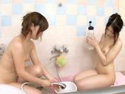 Amazing Asian girl is amazing at threesome sexasian babe, young asian}