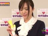 Busty hot MILF Yua Kuramochi uses vibrator picture 12