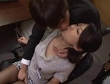Astonishing office lady with bubble ass enjoys hardcore rear fuck picture 13
