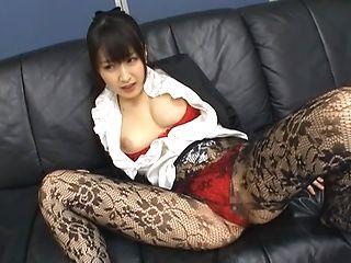 Flexible Japanese milf Arisa Misato fucked by old impressive guy