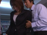 Yuki Ooe drilled by two horny males at work