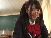 Naughty AI Uehara goes nasty with her horny teacher