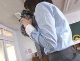 Pretty Asian teacher Airi Suzumura in solo masturbation picture 14
