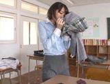 Pretty Asian teacher Airi Suzumura in solo masturbation