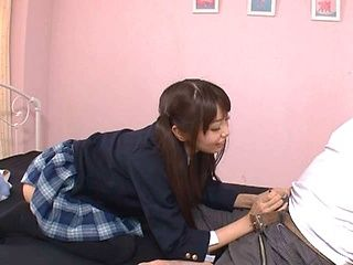 Sweet Minami Hirahara gets seduced into fucking hard
