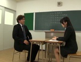 Horny Asian female teacher seduces her male colleague and gets fucked