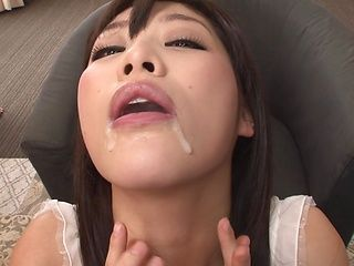 Cum-thirsty Japanese mature model Sunohara Miki swallows tons of cum