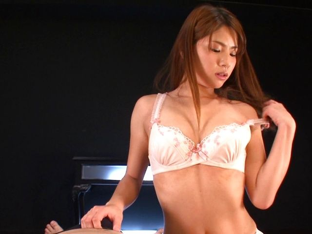 Long-haired bombshell Nanami Sakura plays with dick on POV