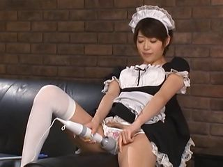 Sweet Japanese maid Makoto Yuuki in a hot sex action with her boss