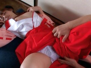 Rio Hot Asian shrine maiden has a wet pussy