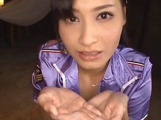 Skillful Japanese sex diva Kiyuri Aoki arranges cosplay and cock sucking