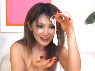 Awesome Asian babe enjoys hot sex on the spot