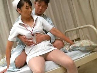 Nasty Asian nurse gets a hard fucking at work