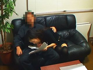 Office worker is a horny Japanese model in costume!