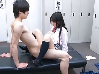 Body licking with nice Asian teen Rin Suzune