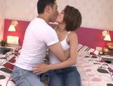 Shaved pussy of Karen Aoki endures fucking picture 8