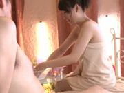 Alluring Asian milf Iroha Sagara gets soaped enjoying foot work