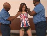 Japanese AV model Honami Uehara is drilled by black guys