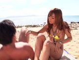 Hibiki Ohtsuki and Ayumu Sena enjoy hot sex on the seashore picture 15