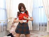 Kirara Asuka Hot Asian doll shows off her body and fondles herself picture 14