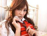 Kirara Asuka Hot Asian doll shows off her body and fondles herself picture 6