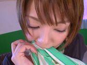Mayu Nozomi Asian babe enjoys a hard rear fucking