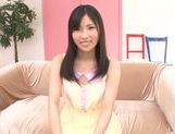 Yummy Asian teen Yuki Komiyama in a kinky solo action picture 11