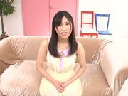 Yummy Asian teen Yuki Komiyama in a kinky solo action