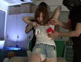Savory Japanese teen Hikaru Shiina gets drilled by dildo toys picture 11