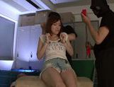 Savory Japanese teen Hikaru Shiina gets drilled by dildo toys
