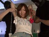 Savory Japanese teen Hikaru Shiina gets drilled by dildo toys picture 3