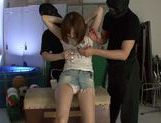 Savory Japanese teen Hikaru Shiina gets drilled by dildo toys picture 7