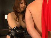 Busty asian Shiori Kamisaki gets hard pounded