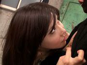 Anri Okita Asian milf adores ball licking and oral sex