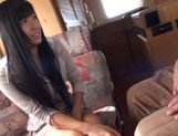 Nana Ogura Asian babe fondles her wet beaver picture 3